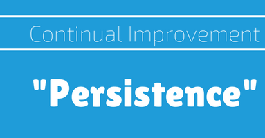 Continual Improvement - Persistence