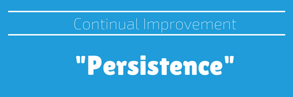 Persistence – a key to continual improvement becoming a reality