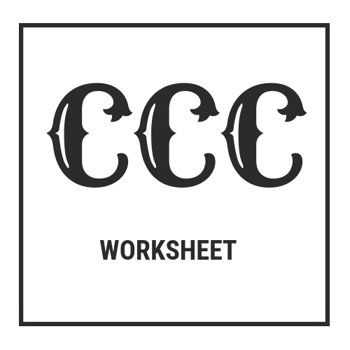 Download the CCC Worksheet and Instructions and Jump Start Your Improvements Within the Next Hour For Only $5